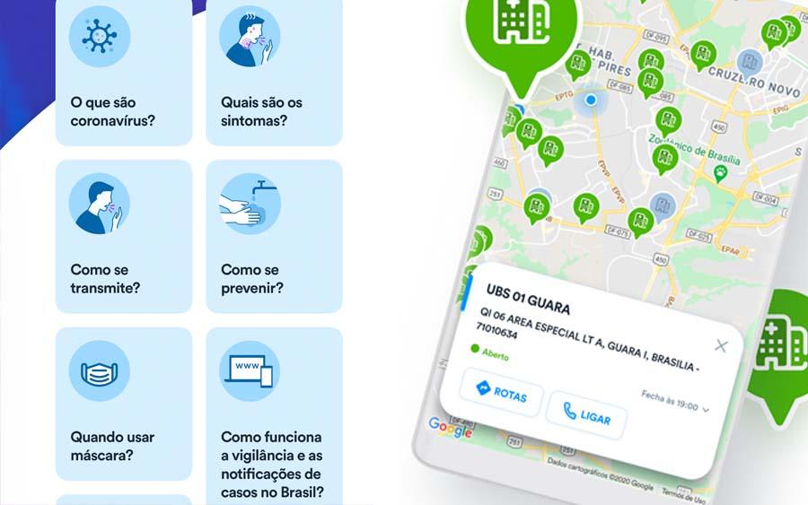 O Ministério da Saúde lançou o aplicativo Coronavírus-SUS para Android e iPhone